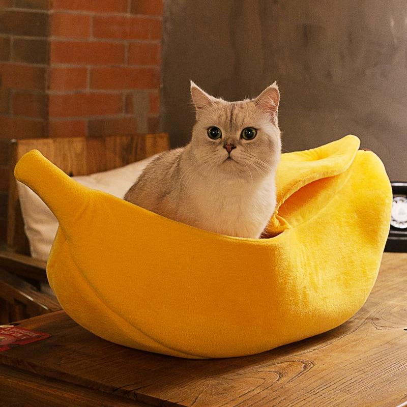 Banana Peel Cat-Kitten Bed