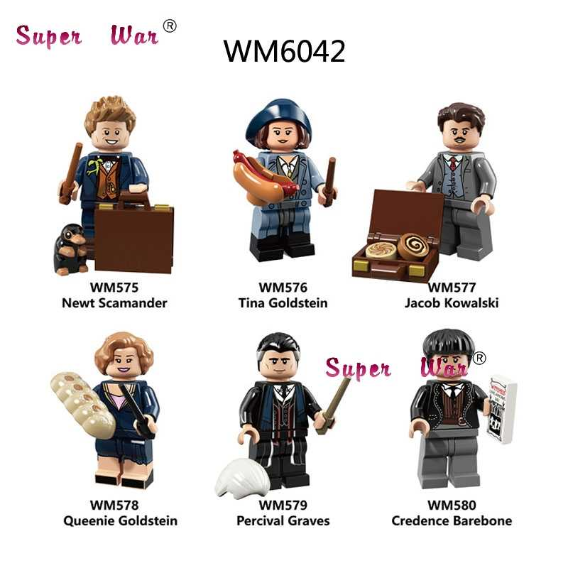 Single Building Blocks  The Crimes of Grindelwald Newt Tina Dobby  toys for children