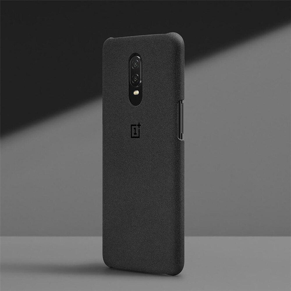 100% offizielle sandstein silikon zurück abdeckung für OnePlus 6 t 6 schutzhülle original zubehör karbon Nylon bumper