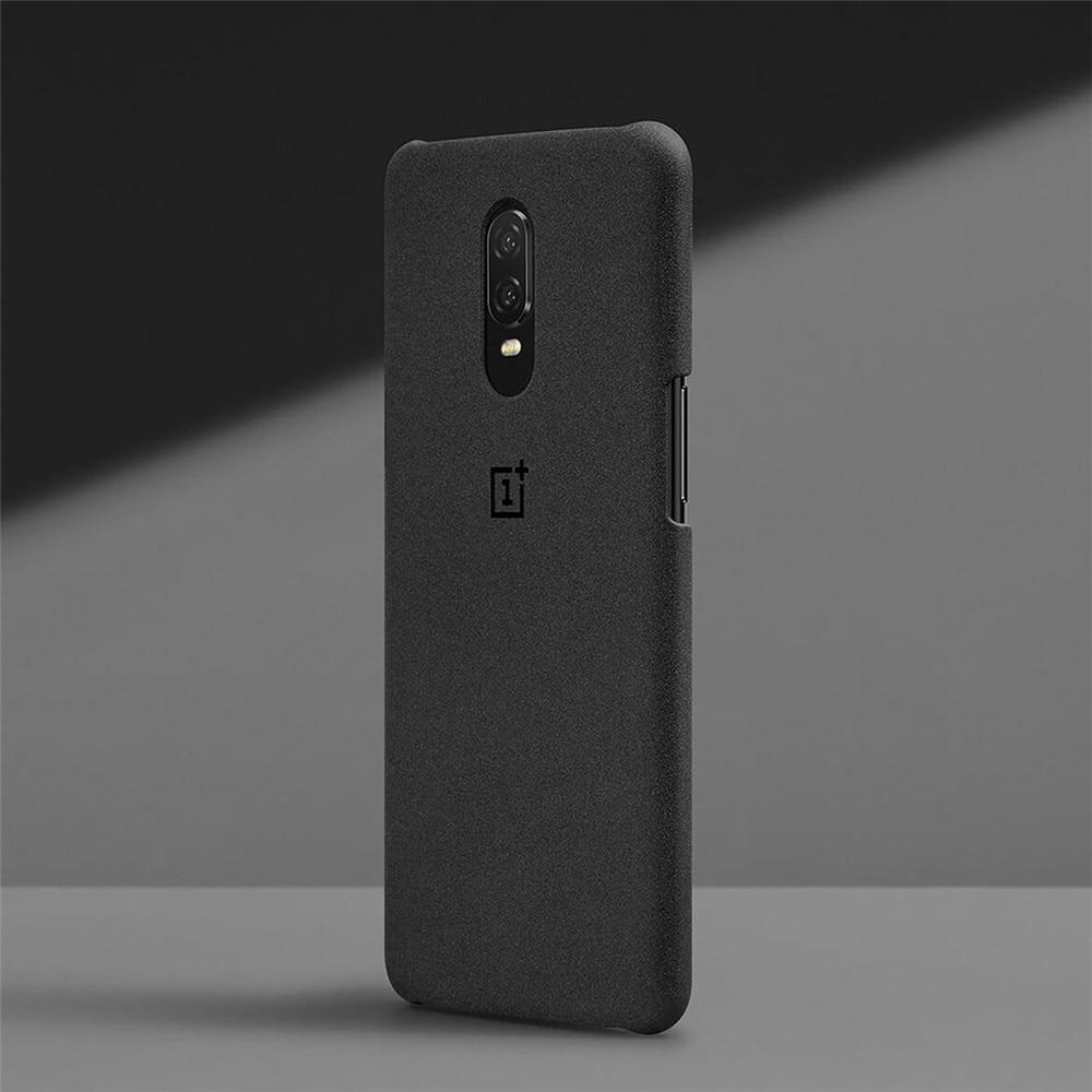 100% piedra arenisca cubierta trasera de silicona para OnePlus 6 t 6 caso accesorios originales karbon Nylon parachoques