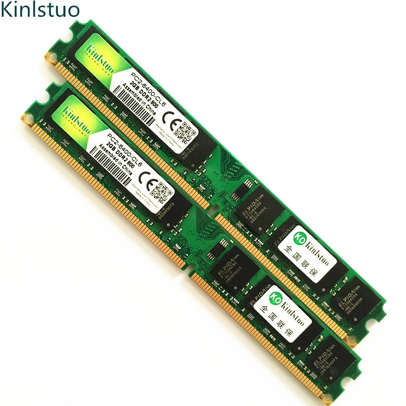 Kinlstuo Wholesale RAMs  New Sealed DDR2 800MHz/PC2 6400 1GB 2GB 4GB Desktop RAM Memory compatible with DDR2 667MHz / 533MHz