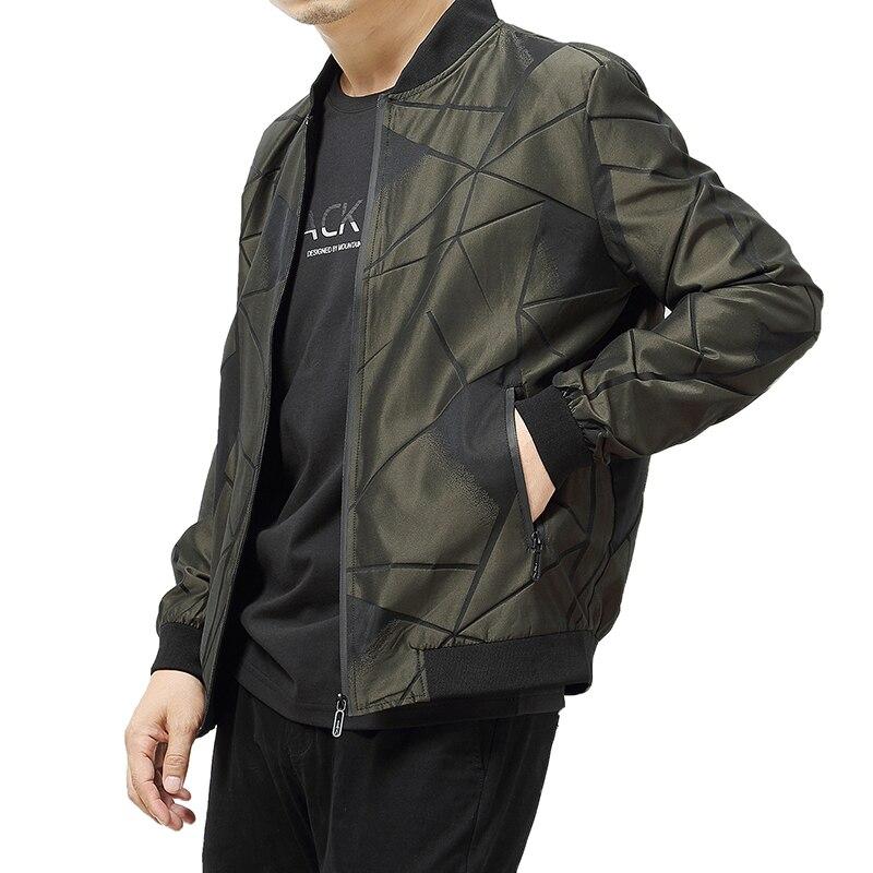 Mode De Baseball Casual Mince Green Veste Streetwear army Hommes Vestes Printemps Black Automne 8xl Solide Taille Pardessus 2018 Bombardier Plus La z8wZ1