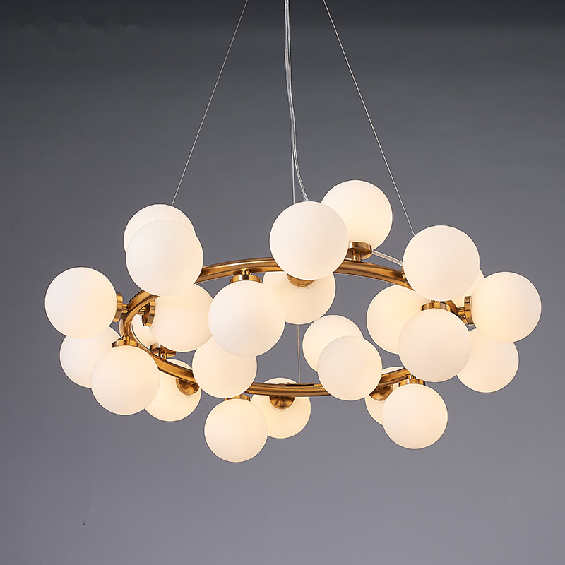 Modern Glass Abajur Ball Pendant Lights Nordic G4 LED Magic Bean Pendant Lamp Glass Lampshade Lustre luminaire suspendu Hanglamp nordic magic bean pendant lights glass lampshade g4 lustre led lamp art deco lamparas colgantes hanglamp suspension luminaire