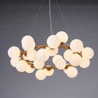 Modern Glass Abajur Ball Pendant Lights Nordic G4 Glass Lampshade Lustre LED Pendant Lamps Luminaire Suspendu