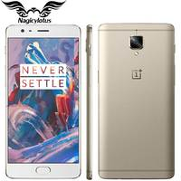 Original Oneplus 3 A3003 EU Version one plus 3 Mobile Phone 6GB RAM 64GB ROM Snapdragon 820 Quad Core 5.5 Android Smartphone