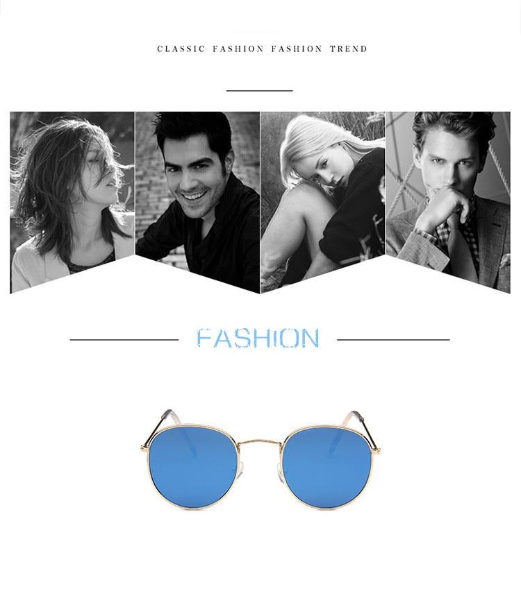 Mirror Round Sunglasses Men Women 4