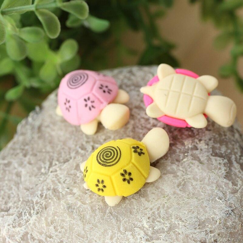 Carton Little Turtle Eraser Creative Stationery 30*20*12mm 12pcs Free Shipping