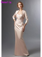 Champagne Elegant Mermaid Satin Mother Of The Bride Gowns Sweetheart Mother S Formal Evening Wear REAL