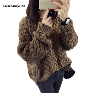 4-Color-Hot-New-Autumn-Winter-Women-Cotton-Elastic-Twist-Sweater-Lady-Knitted-Long-Sleeve-O