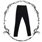 Steelsir 2018 Nuove Donne Vintage Black Button Fly Figura Intera Matita Pantaloni Moda Femminile Del Denim Pantaloni Casuali Britches