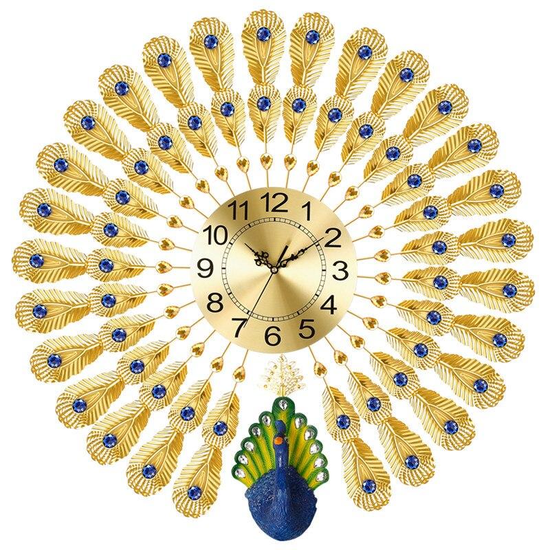 Павлин настенные часы современный краткое личность кварцевые творческий украшения дома часы немой движение сканирования точное время в пу...