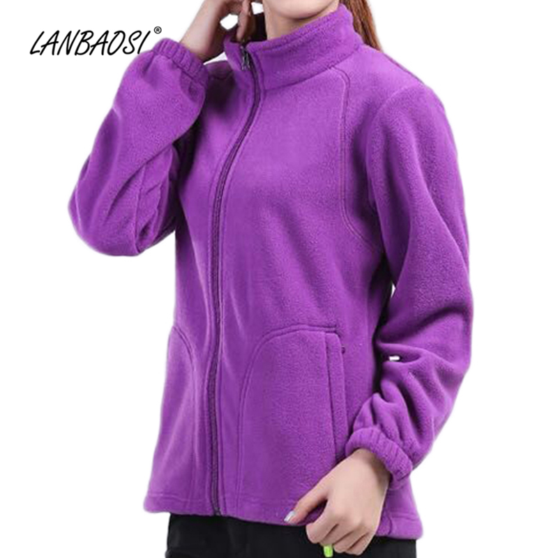 LANBAOSI Thermal Fleece Jackets for Men Women Outdoor Windproof Warm Long Sleeve Fleece Coat Hiking Skiing Travel Clothing stylish outdoor cozy warm coral fleece skiing cap blue