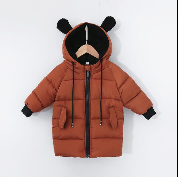 Suit Winter Jacket Girls Boys Children's And Cotton Long Coat Korean-Version Baby Thick