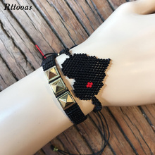 Rttooas Love Heart Bracelet Fashion Punk Jewelry Accessories 2019 Women  Handmad Delicas Bead