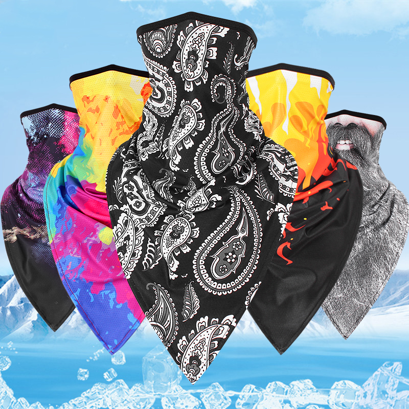 Quick Drying Dust Mask Milk Silk Cycling Scarf Face Mask Motorcycle Face Shield Breathable Multifunctional Half Mask Scarf Wraps