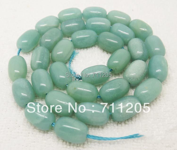 Free Shipping! 8x12mm Natural Amazonite Drum Shape Loose Beads 15 Min. Order is $10,we provide mixed wholesale for all items !