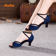 New Arrival Women Latin Salsa Dance Shoes Silver Blue Soft Rubber Outsole Ladies Girls Ballroom/Tango High Heels 5cm