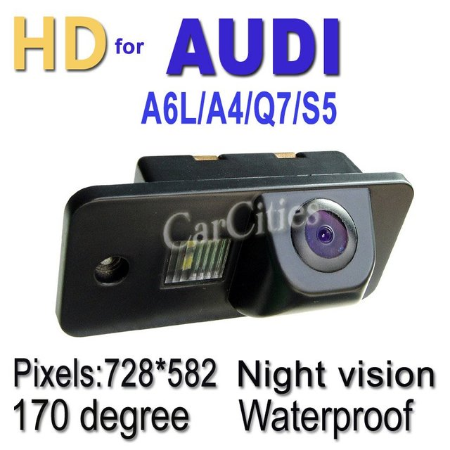 holiday sale CCD car parking camera170 degree for Audi A6L/A4/Q7/S5 Waterproof shockproof Night version Size:70.5*32.8*34.5mm