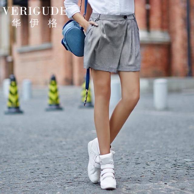 Вери güde женщины плед шорты на лето средней толщины материал