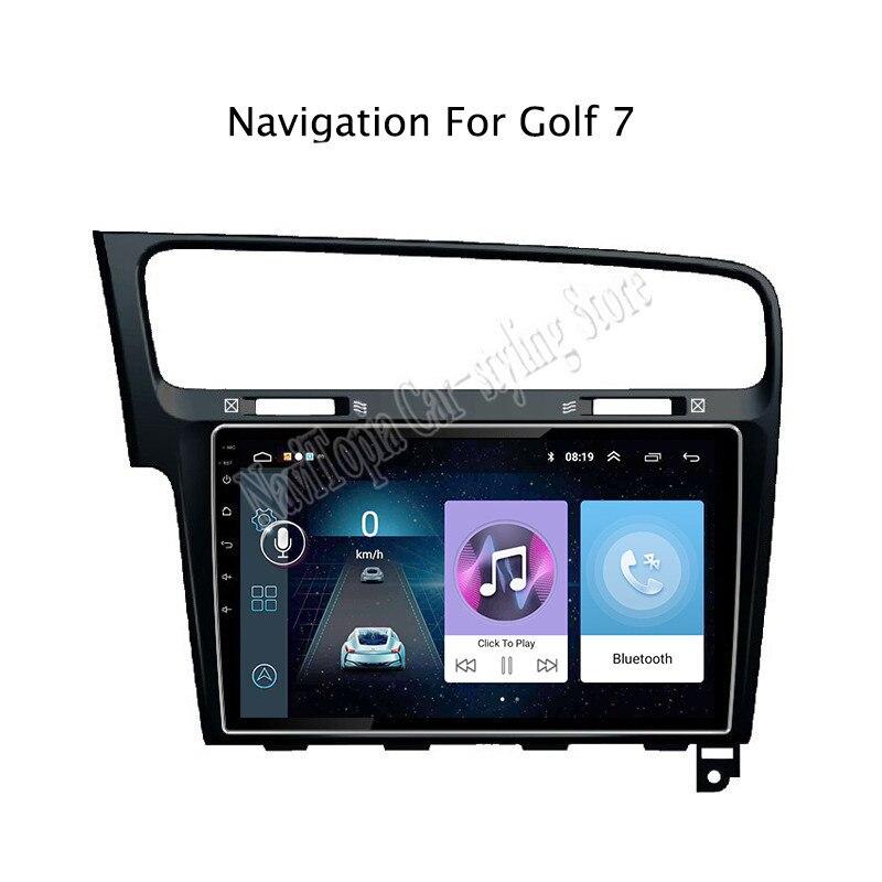 10,1 дюймов Android 9,0 автомобильное радио GPS навигация Мультимедиа Стерео DVD плеер для VW golf 7 2014 2015 2016 2017 2018