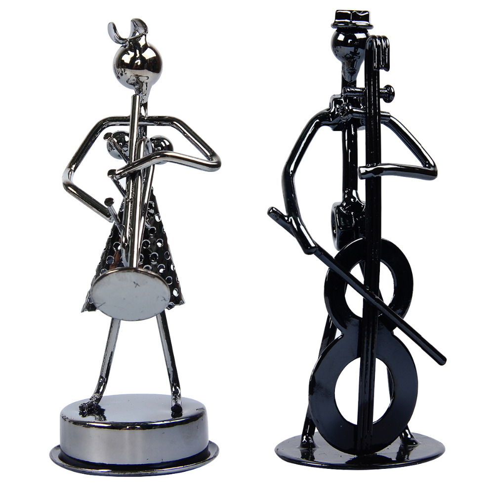 popular musician figurinesbuy cheap musician figurines lots from  - multi styles metal musician composition small craft ornaments figurinestatue cafe counter book shelf decor(