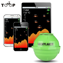 125KHz WiFi Wireless Fish Finder Russian Sonar Fishfinder 50M Depth Fishfinder Fish Detector for IOS Echo sounder for Android