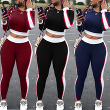 Sexy Women Sports Set Yoga Sleeve Crop Top Pants Outfit Yoga Workout Gym font b Fitness
