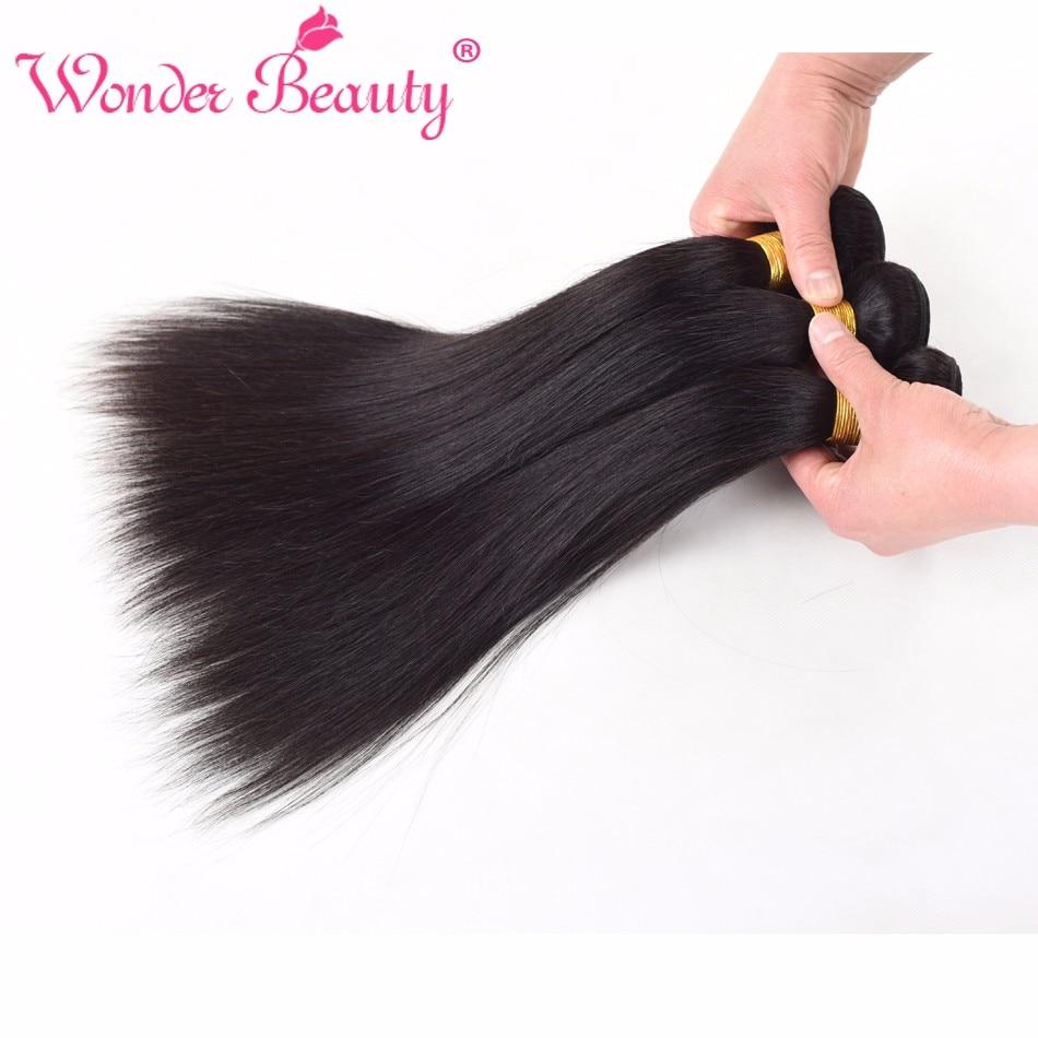 Wonder beauty бразильские не Реми волосы прямые волосы человеческие волосы переплетаются с 4 пучками длина сделки от 8 дюймов до 30 дюймов части волос