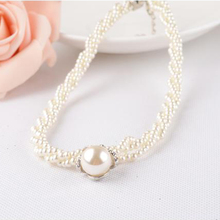 Best Simulated Pearl Necklace Vintage Bib Necklace Pendant Fashion Jewelry Cheap