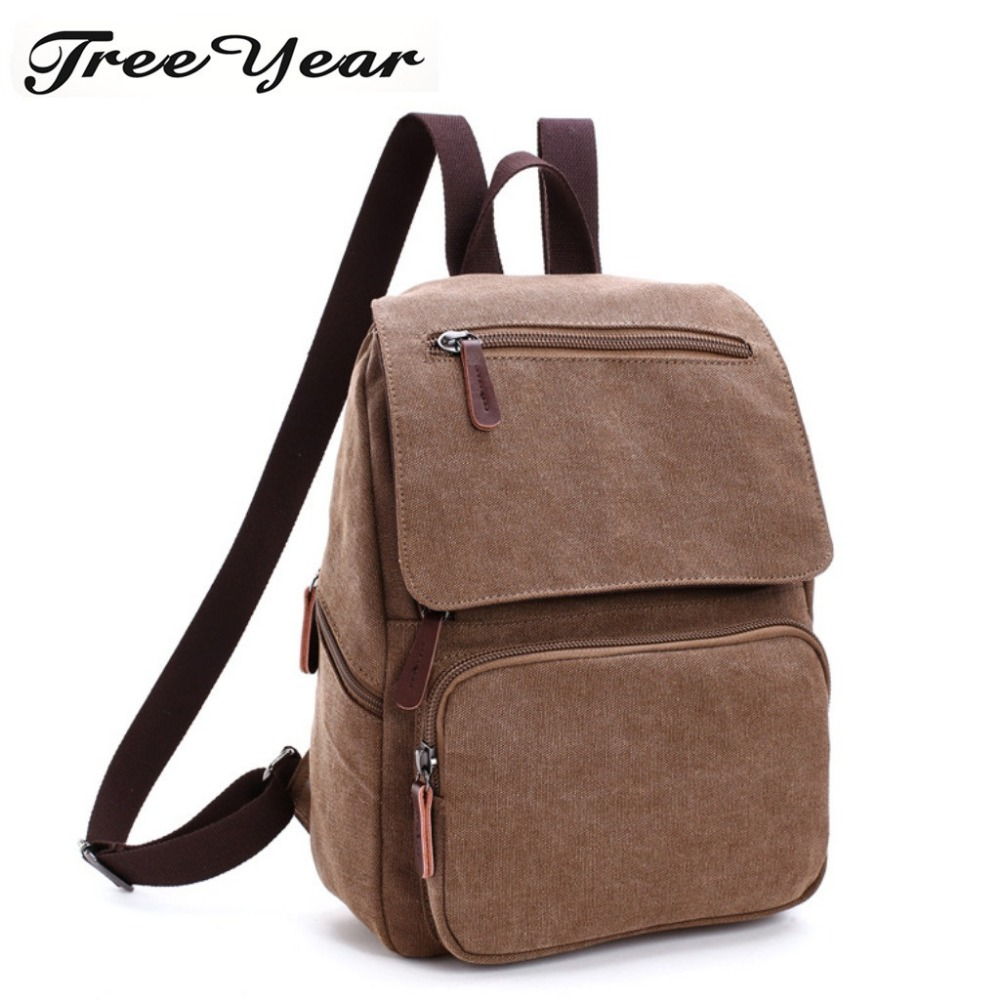 Men School Bag Rucksack Mochila Canvas Male Backpack High Capacity Travel Bag 15.6 Inch Laptop Backpack Functional Bag