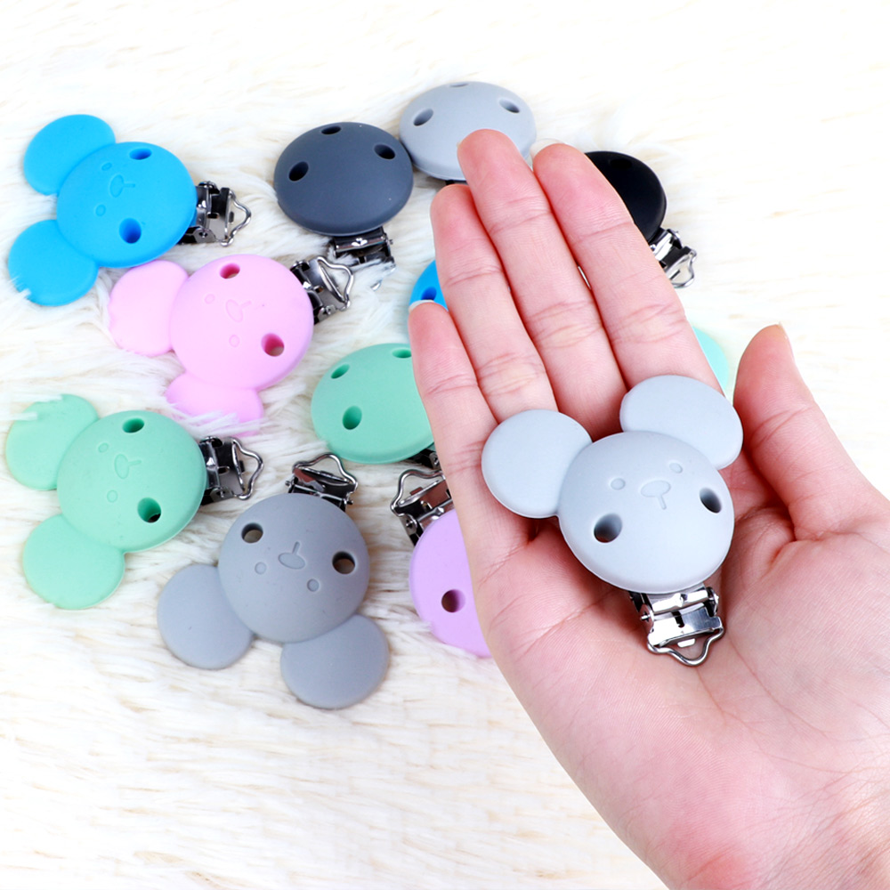 Image 2 - TYRY.HU 10pc Mickey Pacifier Dummy Teether Chain Holder Clips BPA Free Baby Nursing Safe Toys Accessories DIY Pacifier ClipsBeads   -