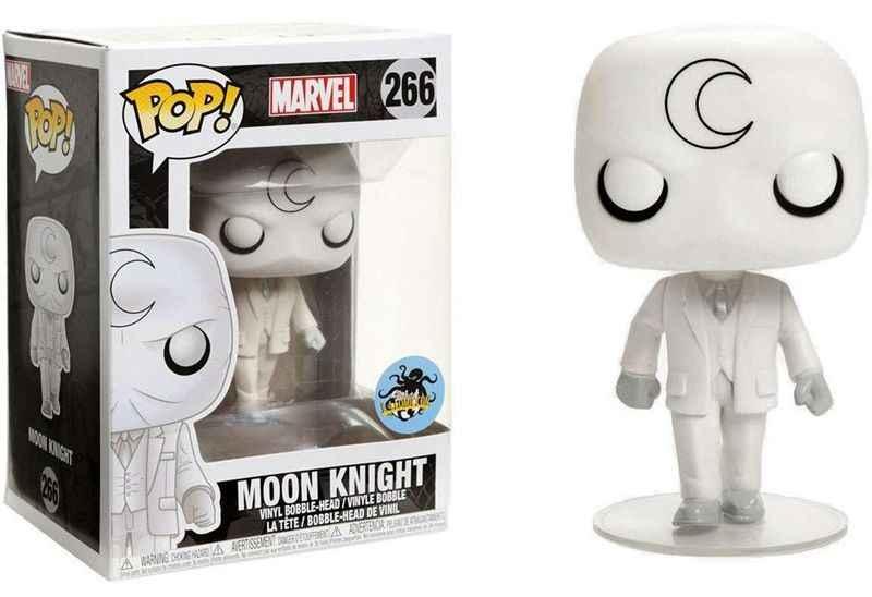 Эксклюзивный FUNKO POP официальный светится в темноте Marvel: Moon Knight Виниловая фигурка Коллекционная модель игрушки с оригинальной коробкой