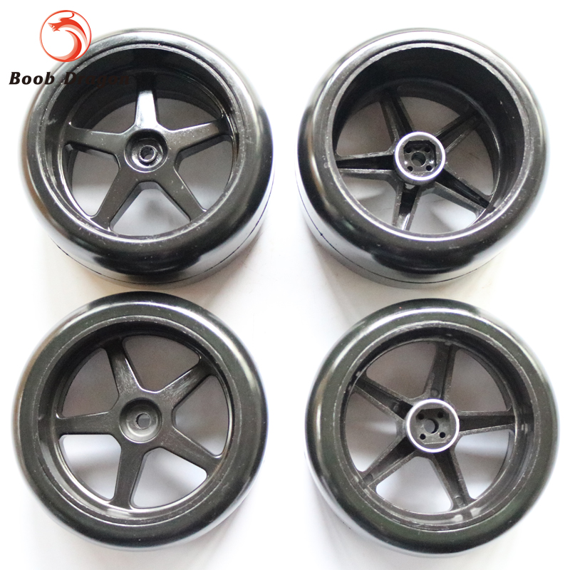 Front Slick Tires(2) and Rear Slick Tires(2) fit FG 1/5 Monster Truck Black зажимы blunt 2 bolt clamp oil slick