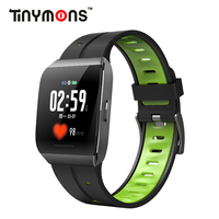 Tinymons X1 Smart Watch Color Screen IP68 Waterproof Heart Rate Blood Pressure Monitor Remote Control Bracelet For Android IOS