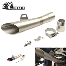 цена на 35MM-51MM Universal Motorcycle Exhaust Pipe Escape Scooter Muffler With DB Killer  For Honda For Kawasaki ER-6F ER-6N  Z 300 ABS