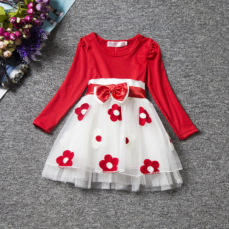 Cute Baby Dress Long Sleeve Spring Winter Princess Girls Clothes Children Dresses For Girl Flower Girls Dress Clothing Vestidos
