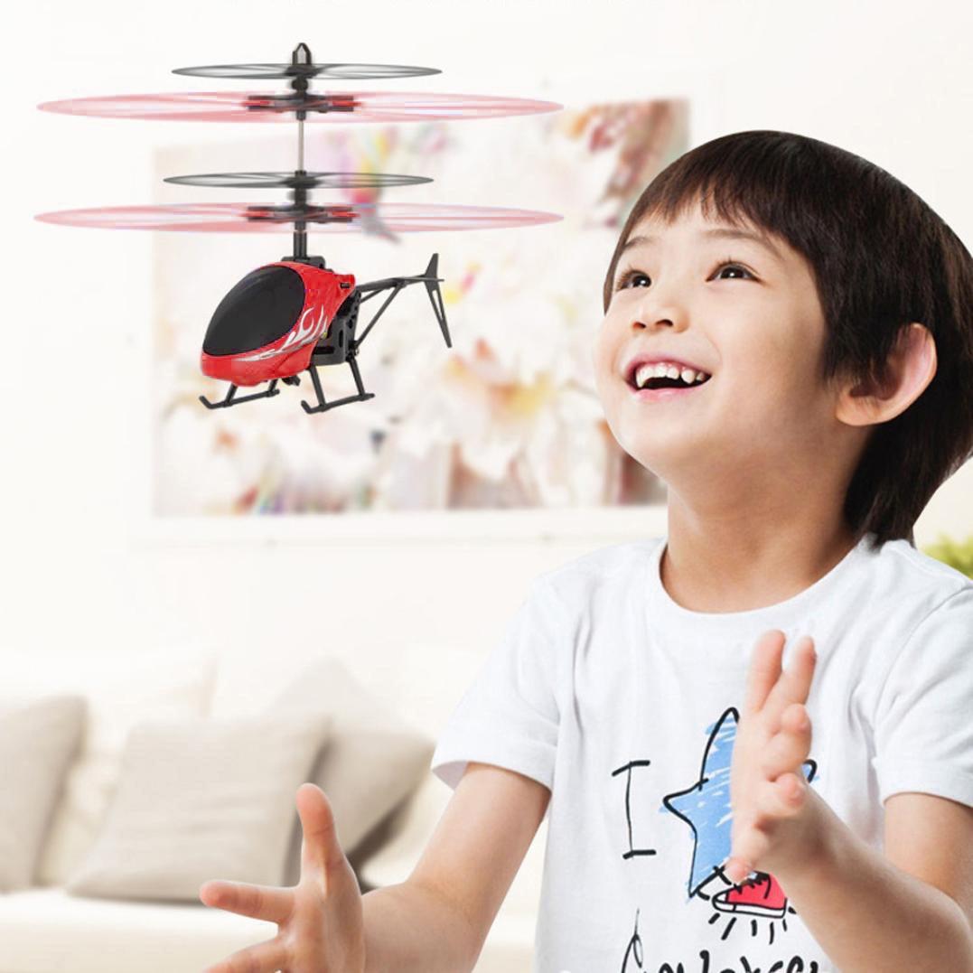 Vliegende Mini Rc Infraed Inductie Helicopter Vliegtuigen Knipperlicht Speelgoed Voor Kids Verzending Ma9m30