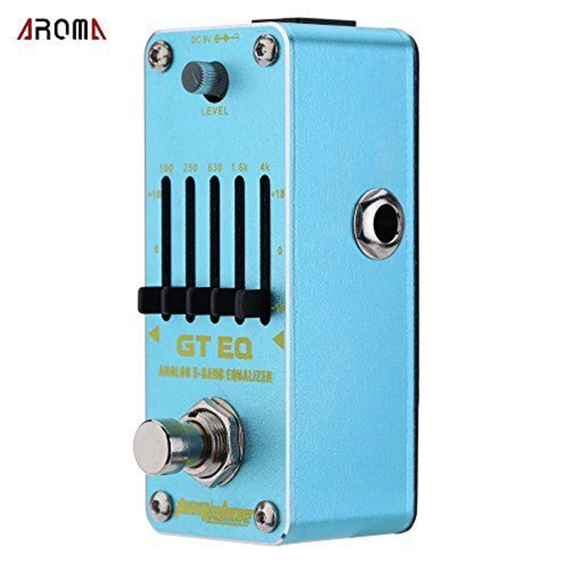 AROMA AEG-3 Guitar Effect Pedal GT EQ Analog 5-Band Equalizer Electric Guitar Effect Pedal Mini Single Effect with True Bypass aroma tom sline abr 3 mini booster electric guitar effect pedal with aluminum alloy housing true bypass durable guitar parts