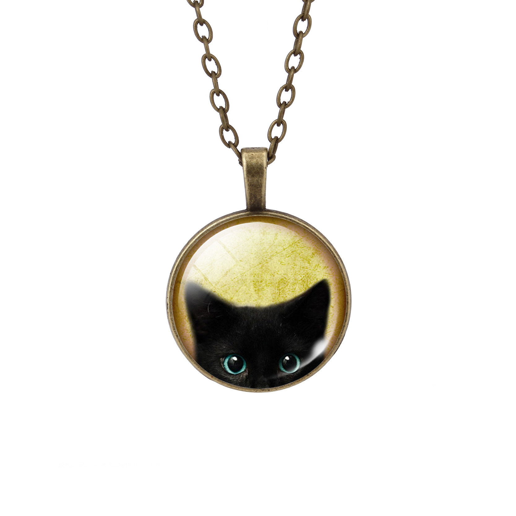 UNIQUE NECKLACE GLASS CABOCHON-SILVER BRONZE CHAIN NECKLACE BLACK CAT PICTURE VINTAGE PENDANT NECKLACE UNIQUE NECKLACE GLASS CABOCHON-SILVER BRONZE CHAIN NECKLACE BLACK CAT PICTURE VINTAGE PENDANT NECKLACE-Cat Jewelry-Free Shipping UNIQUE NECKLACE GLASS CABOCHON-SILVER BRONZE CHAIN NECKLACE BLACK CAT PICTURE VINTAGE PENDANT NECKLACE-Cat Jewelry-Free Shipping HTB1dwJOLXXXXXaEXpXXq6xXFXXXK