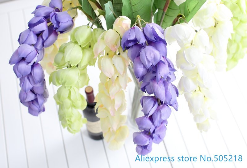 1 pcs beautiful artificial lantern flowers wisteria silk flowers 1 pcs beautiful artificial lantern flowers wisteria silk flowers home party wedding decoration f420 in artificial dried flowers from home garden on mightylinksfo