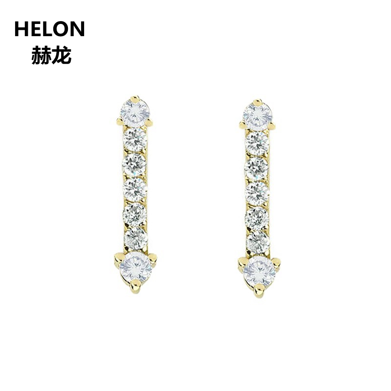 0.16ct SI/H Natural Diamonds Stud Earrings Solid 14k Yellow Gold Engagement Wedding Women Earrings Valentine Jewelry Gift цена 2017