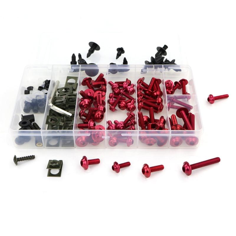 Обтекателя Болты комплект Шурупы Для Honda VFR750 VFR750F VFR800 VFR800X Crossrunner VFR1200X Crosstourer VTR1000 VTR1000F VFR1200F - Цвет: red