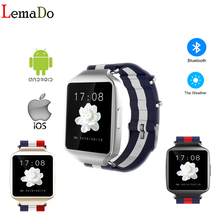 Lemado L1 bluetooth smart watch support weather forecast drink water remind for IOS android phone sleep monitor PK kw88