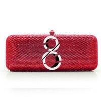 Номер узор сумка цепи Женщины Сумки Пользовательские кристалл как свое имя логотип вечерние сумки (2020 см)