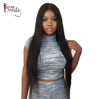 Ever Beauty 360 Lace Frontal Wigs For Women 150% Density Straight Brazilian 360 Wig Human Hair Natural Black Color Remy