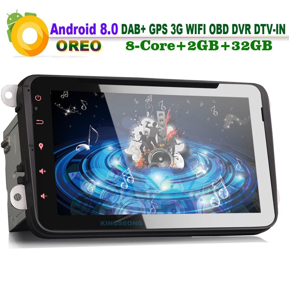 Восьмиядерный 8 Android 8.0 dvd-плеер автомобиля головное устройство для VW EOS Jetta Мужские поло V 6R Радио GPS sat Nav dab + MP3 Bluetooth dvb-t DVR 3G