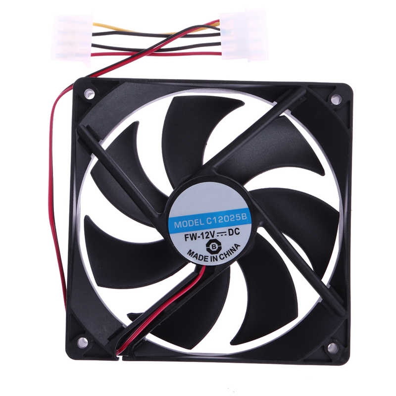2Pcs PC CPU Cooler Radiator 120mm Cooling Fan 4Pin DC 12V Brushless Radiating for Computer Desktop PC 120x25mm 1 2 5pcs 3 pin cpu 5cm cooler fan heatsinks radiator 50 50 10mm cpu cooling brushless fan ventilador for computer desktop pc 12v
