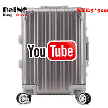 YouTube Video Logo Sticker Sign Underground DIY Waterproof Suitcase Laptop Guitar Luggage Skateboard Bicycle Toy Lovely Stickers(China)