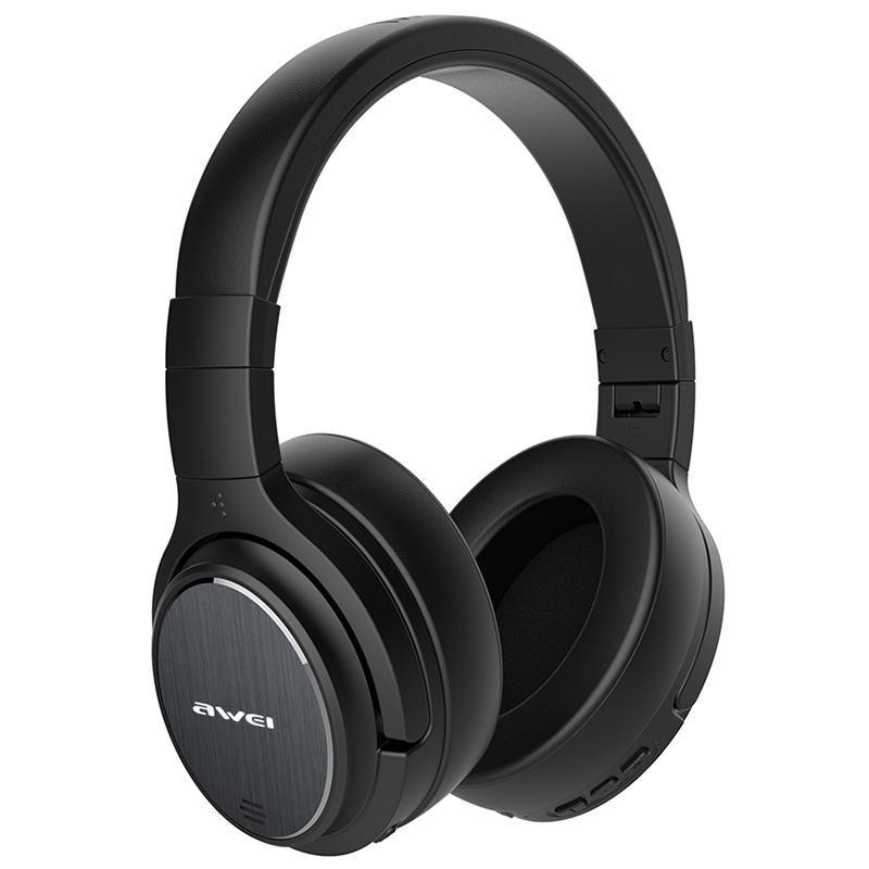 Awei A950BL ANC Noise Reduction Bluetooth Headset Wireless Headband Over-ear Headphone with Mic For Gaming Sports redragon h991 triton active noise canceling gaming headset 7 1 channel surround stereo anc over ear headphone with mircophone