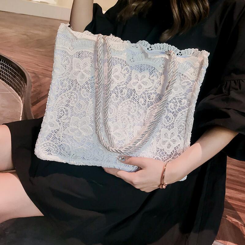 Bags for Women 2018 Lace White Handbag Big Capacity luxury Handbags Designer Bolsa Feminina Womens Shoulder Tote Shopping Bag